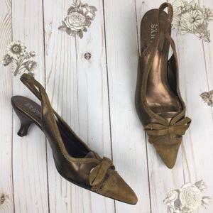 Franco Sarto Brown 7.5 Closed Toe Heels